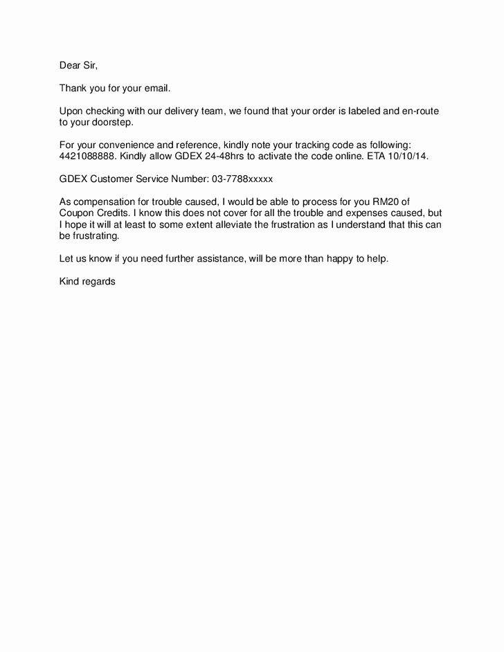 Apology Letter to Customers Beautiful Apology Letter to Customer Regarding Delivery Delay for