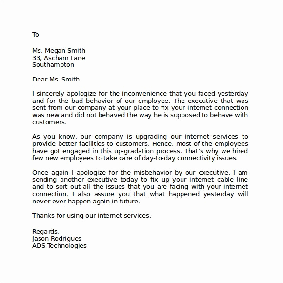 Apology Letter to Customers Inspirational the 50 Best Apologize Letter to Client