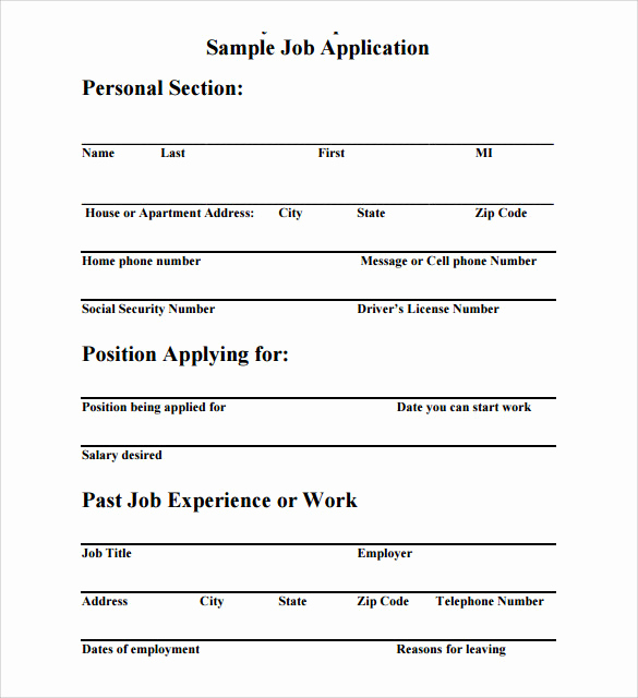 Application for Employment Templates Best Of Job Application Template 8 Download Free Documents In Pdf