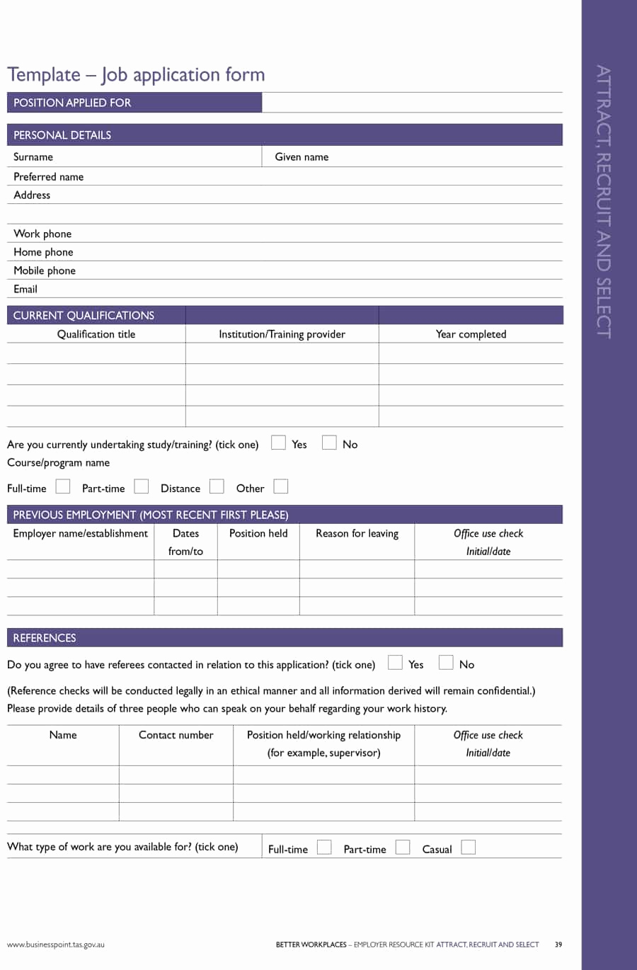 Application for Employment Templates Fresh 50 Free Employment Job Application form Templates
