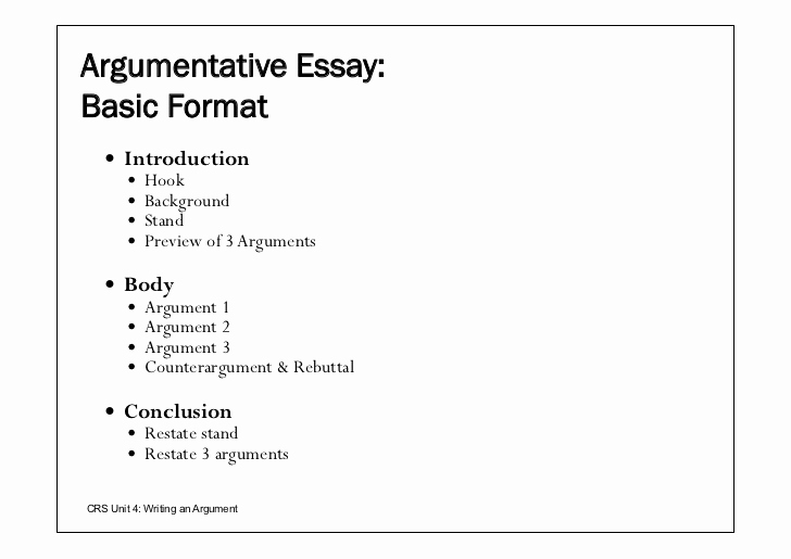 Argumentative Essay Outline Example Elegant Written Argumentative Essays