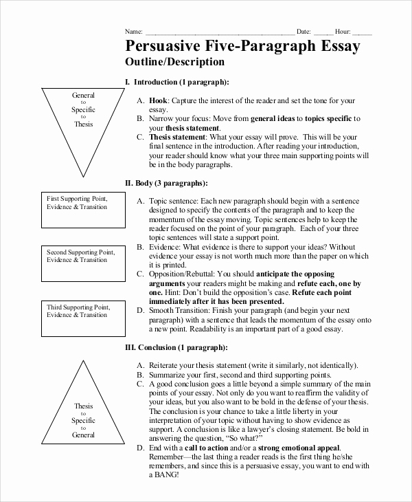 Argumentative Essay Outline Example Inspirational 8 Essay Outline Examples