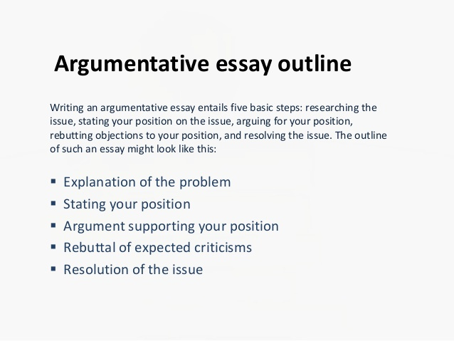 Argumentative Essay Outline Example Luxury Argumentative Essay Outline