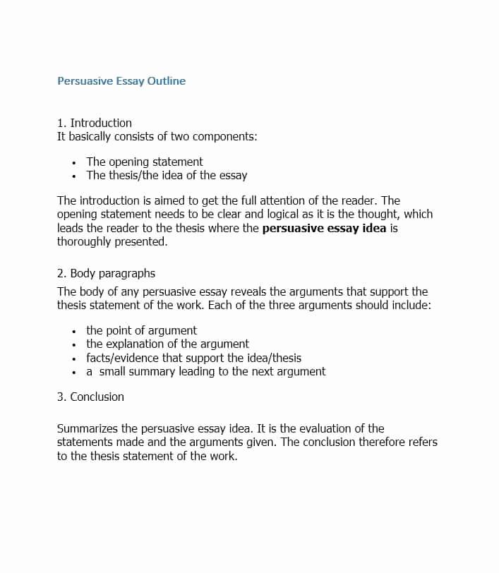 Argumentative Essay Outline Template Beautiful 37 Outstanding Essay Outline Templates Argumentative