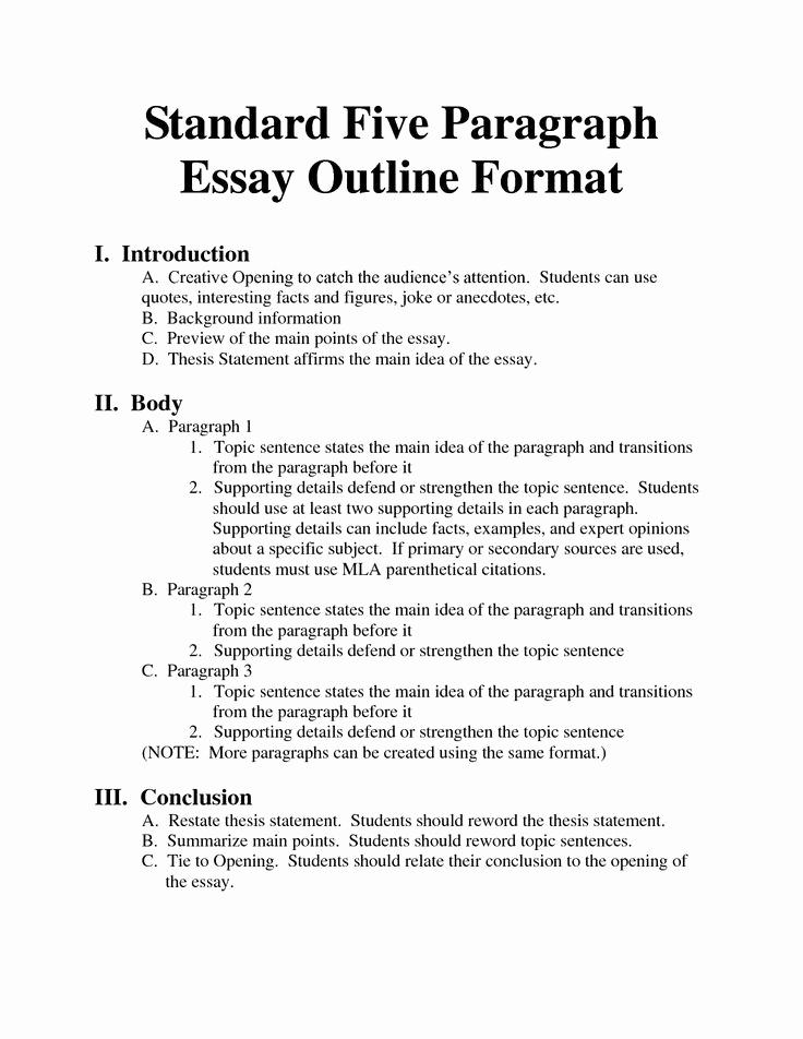 Argumentative Essay Outline Template Beautiful Writing and Essay Outline the Writing Center