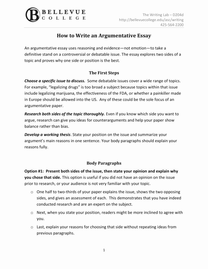 argumentative essay outline templates