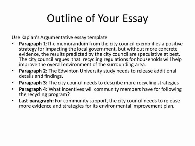 Argumentative Essay Outline Template Fresh Presentation Argumentative Essay