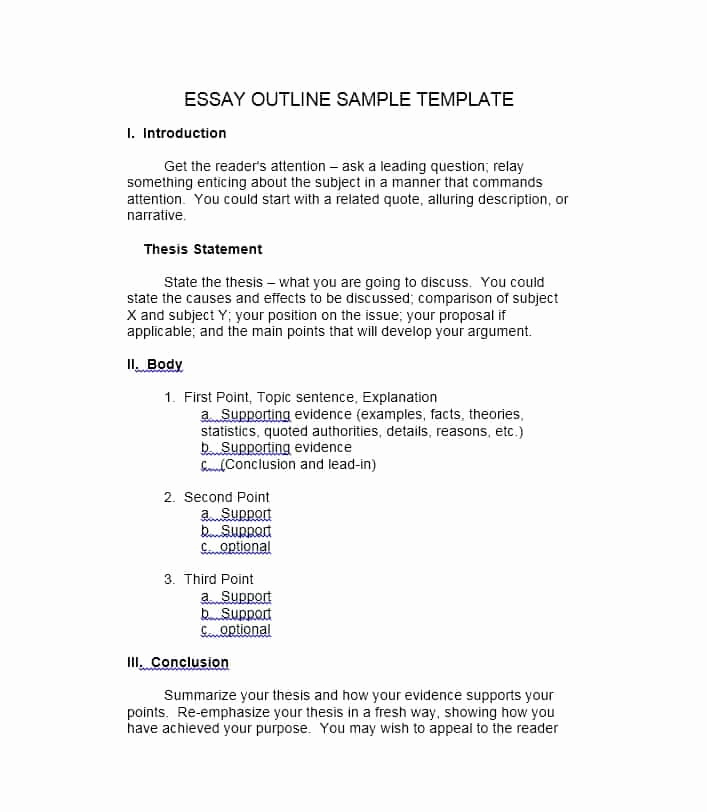Argumentative Essay Outline Template Lovely Creative Writing Outline Template