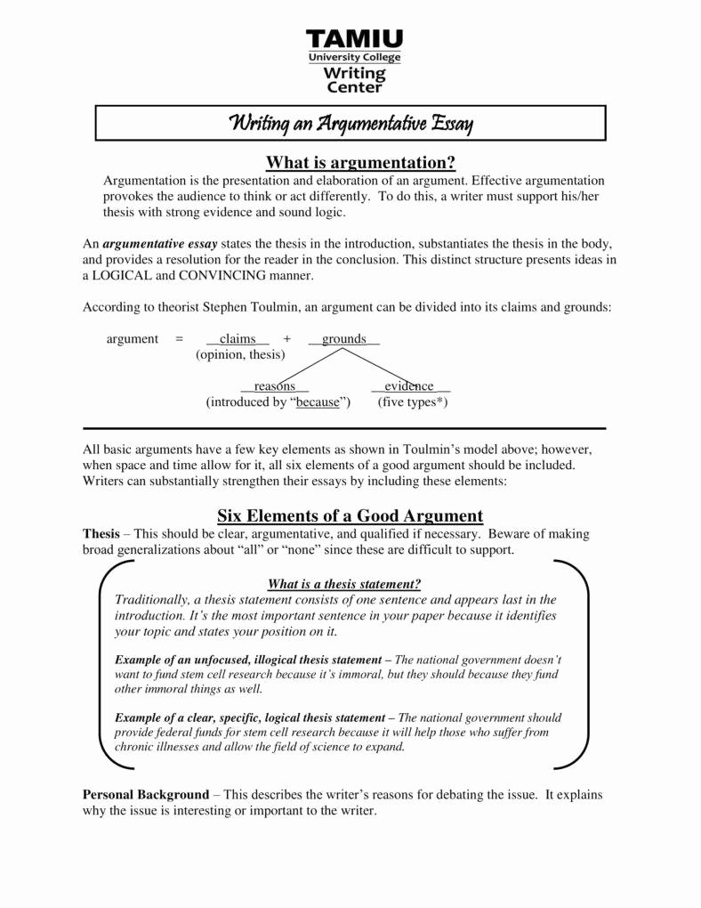 Argumentative Essay Sample Pdf Beautiful 9 Argumentative Essay Outline Templates Pdf