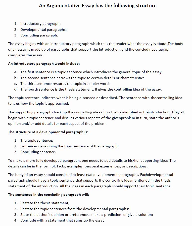 Argumentative Essay Sample Pdf Fresh Argumentative Essay Examples – Guide to Your Success