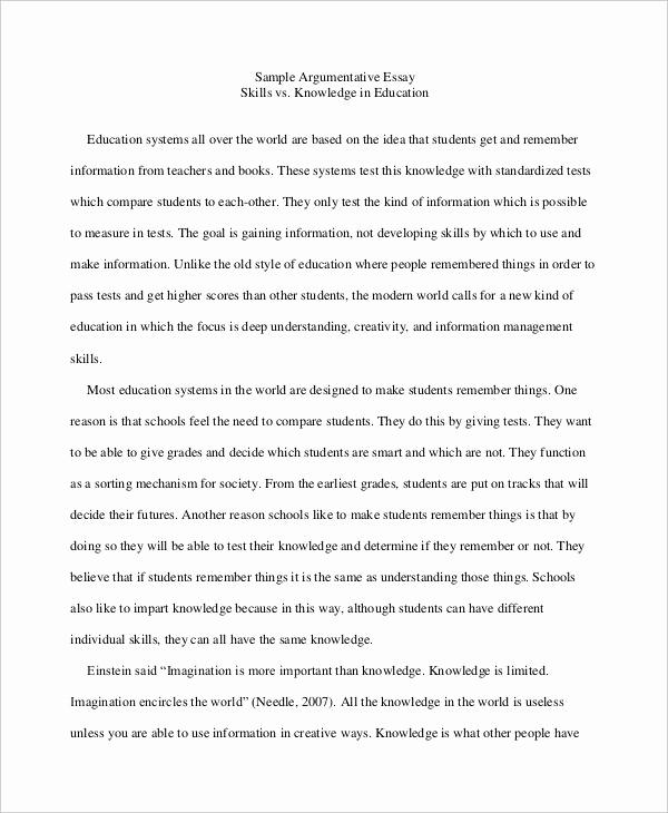 Argumentative Essay Sample Pdf Inspirational 9 High School Essay Examples & Samples Pdf