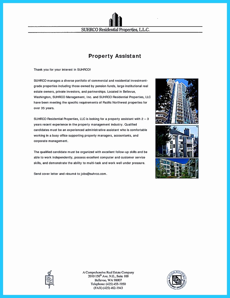 Assistant Property Manager Job Description Awesome Writing A Great assistant Property Manager Resume