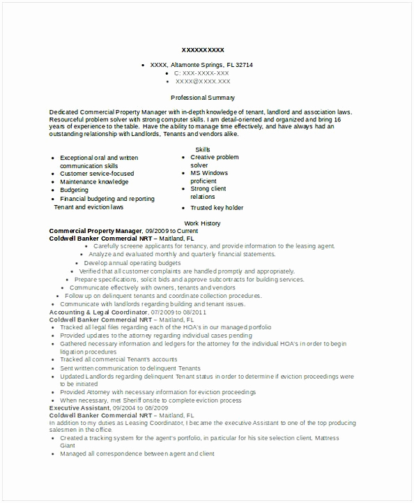 Assistant Property Manager Job Description Best Of assistant Property Manager Resume Sample