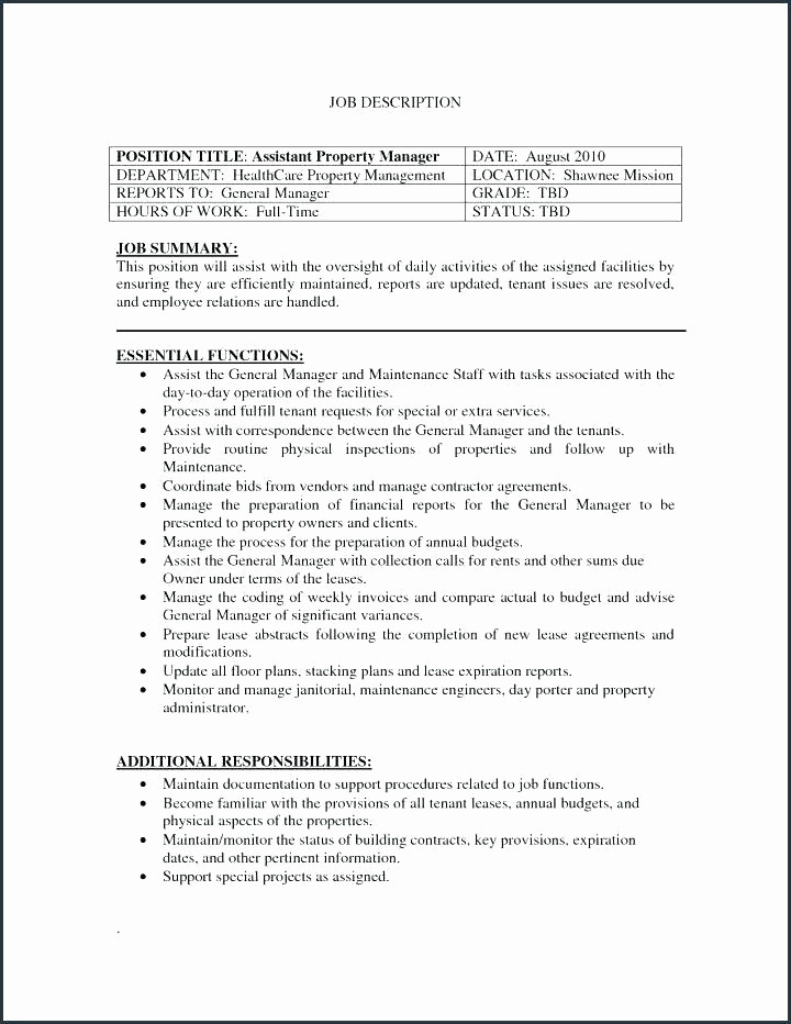 Assistant Property Manager Job Description Luxury Property Management Job Description