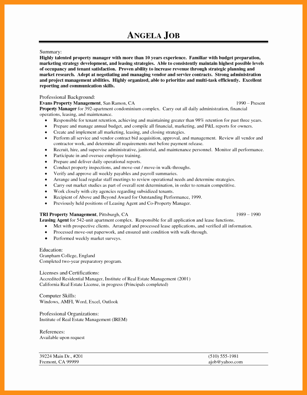 Assistant Property Manager Job Descriptions Best Of Writing Sample Job Application