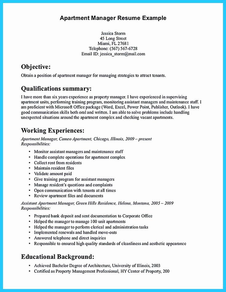 Assistant Property Manager Job Descriptions Fresh 192 Best Resume Template Images On Pinterest