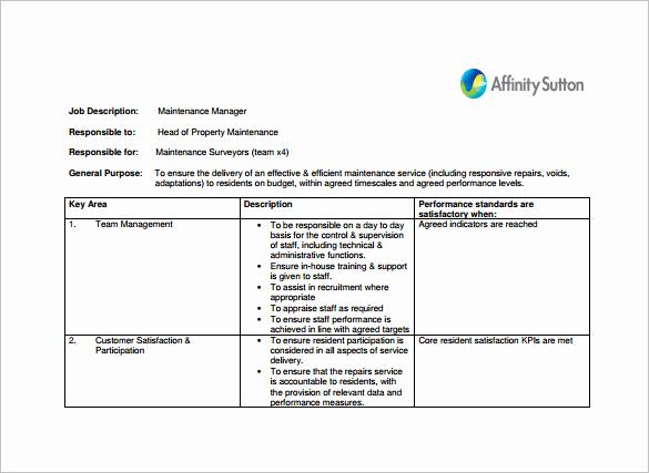 Assistant Property Manager Job Descriptions Fresh 9 Property Manager Job Description Templates Free