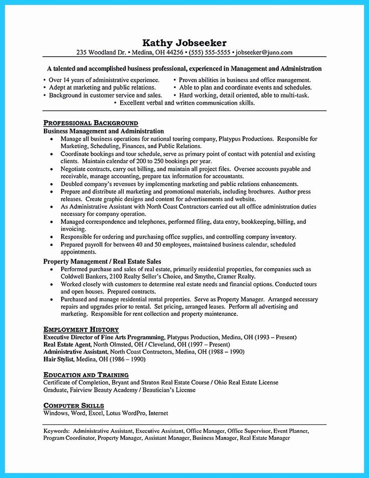 Assistant Property Manager Job Descriptions New 11 Best Property Manager Resume Images On Pinterest