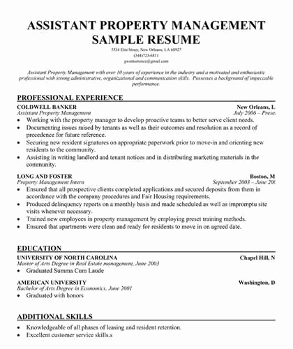 Assistant Property Manager Job Descriptions New assistant Property Management Resume Objective