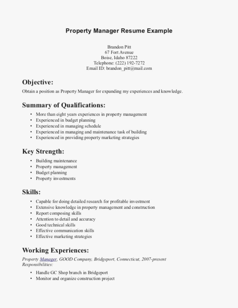 Assistant Property Manager Resume Awesome All You Need to Know About Property