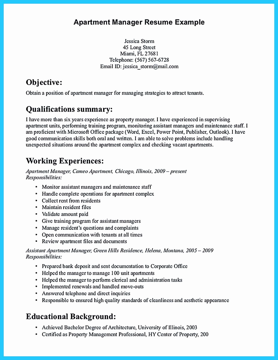Assistant Property Manager Resume Beautiful there are Several Parts to Write Your assistant Property