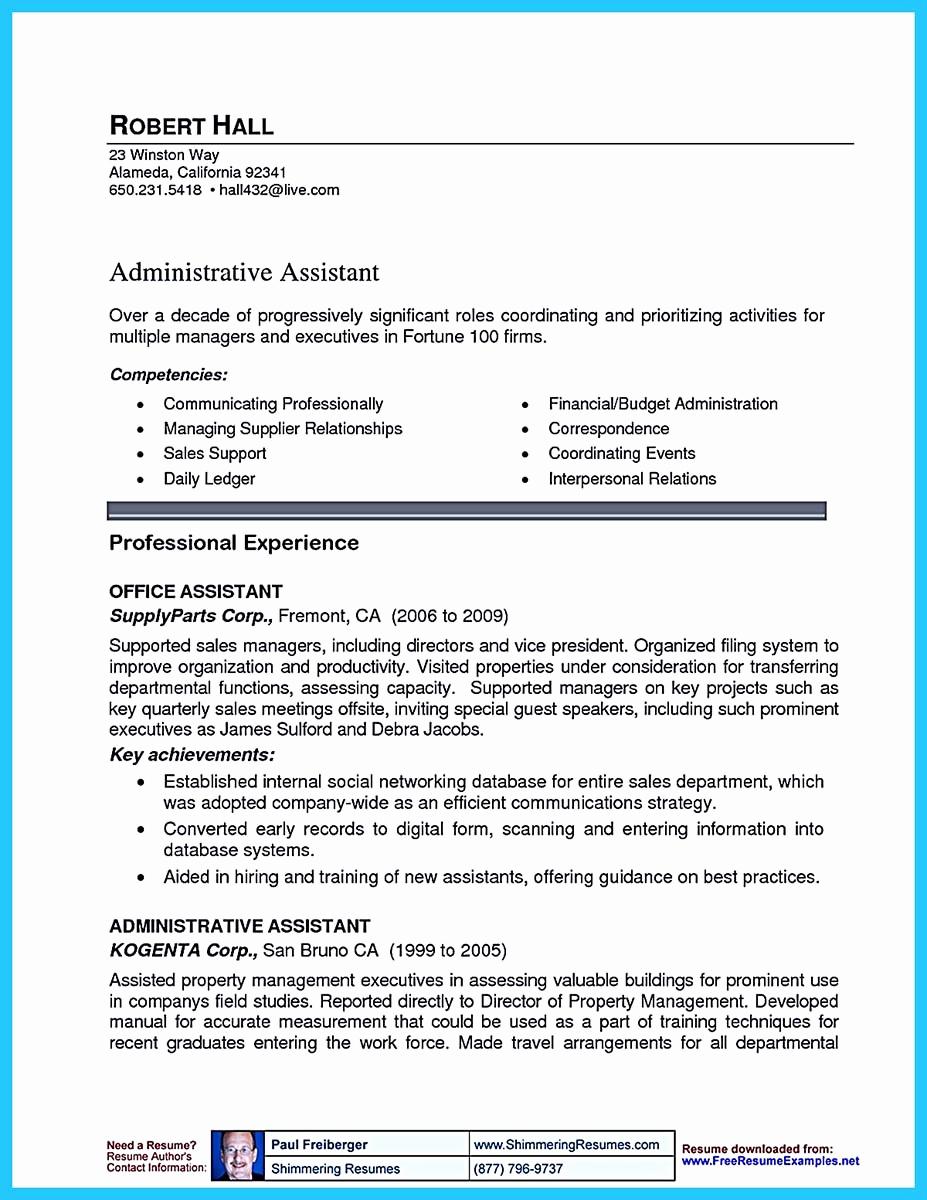 Assistant Property Manager Resume Elegant Writing A Great assistant Property Manager Resume