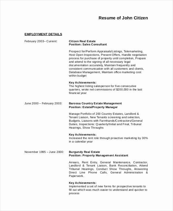 Assistant Property Manager Resume Fresh 9 Manager Resume Templates Pdf Doc