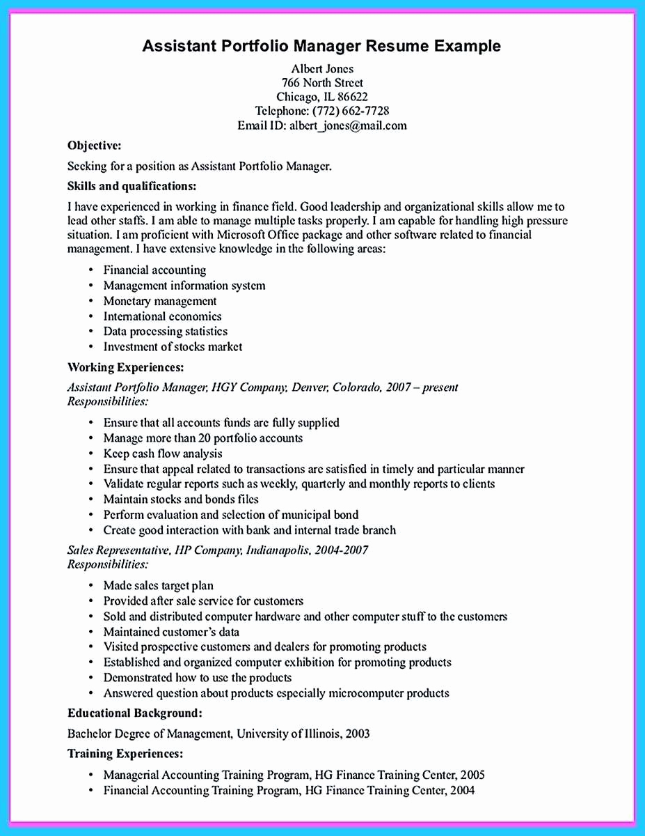 Assistant Property Manager Resume Inspirational 21 New assistant Property Manager Resume Sample Hu