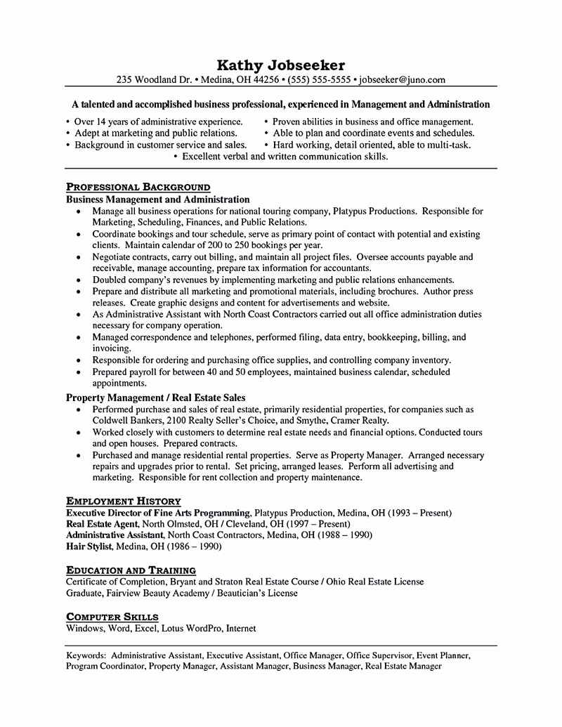Assistant Property Manager Resume Inspirational assistant Property Manager Resume