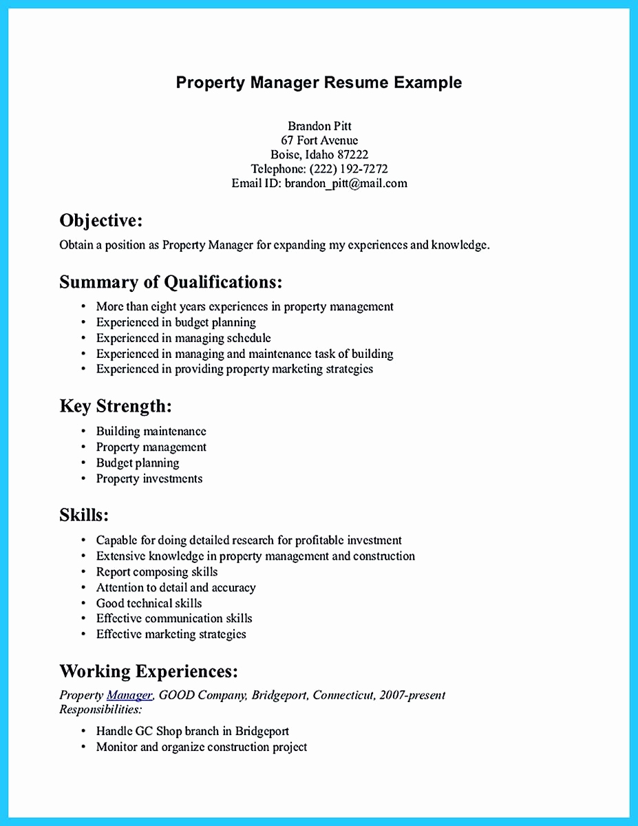 Assistant Property Manager Resume Lovely Writing A Great assistant Property Manager Resume