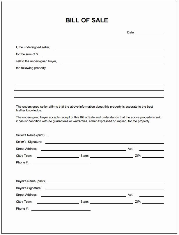 Auto Bill Of Sale Texas Beautiful Download Bill Sale form Pdf