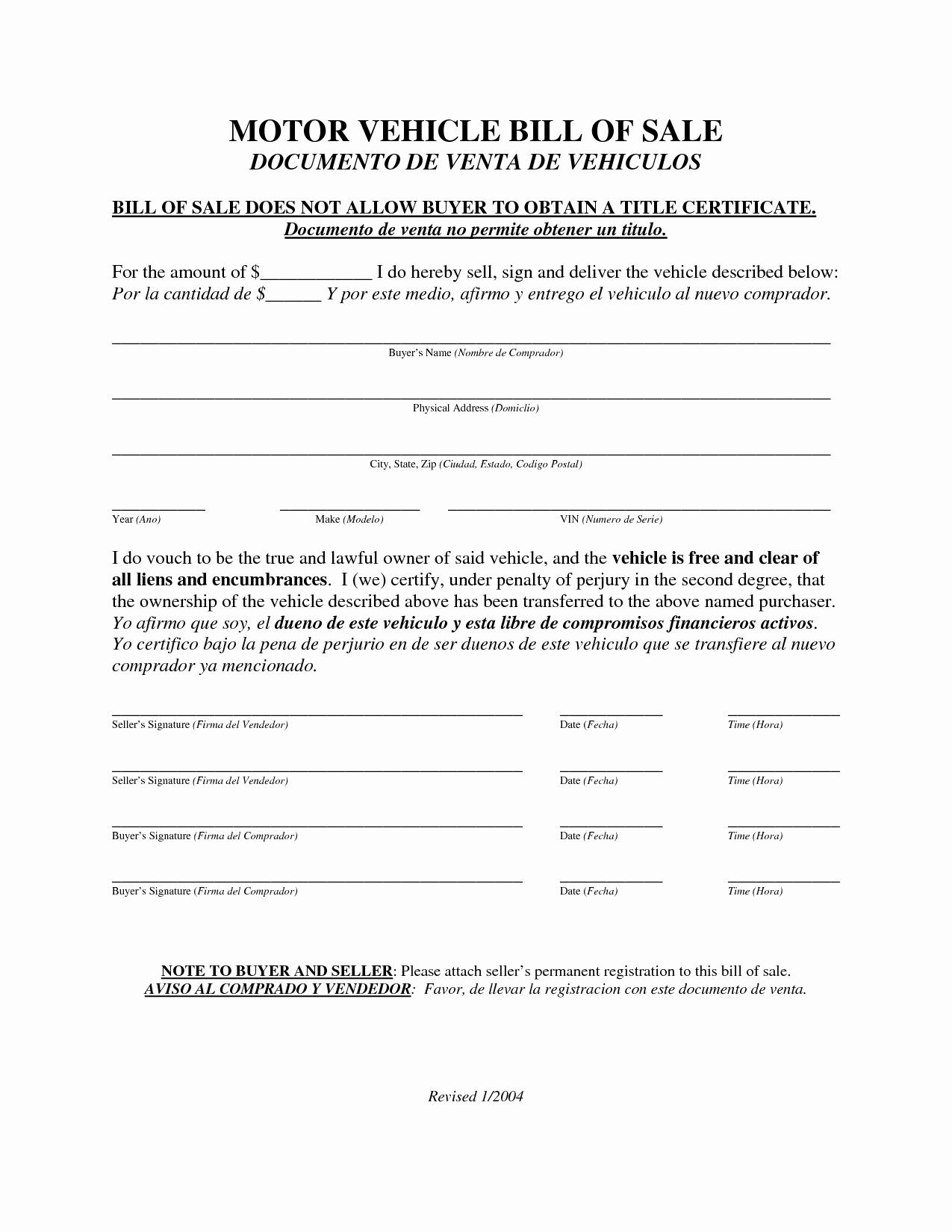 Auto Bill Of Sale Texas Lovely Texas Motor Vehicle Registration Fees Impremedia