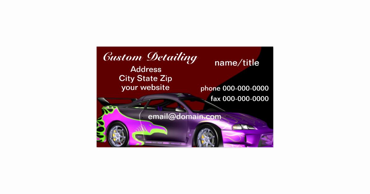 Auto Detailing Business Cards Awesome Auto Detailing Business Cards