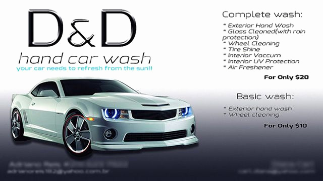 Auto Detailing Business Cards Elegant Interesting D&d Hand Car Wash Business Cards Sample with