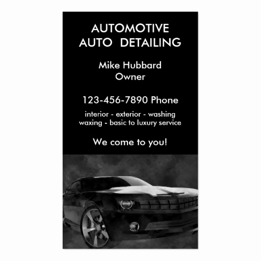 Auto Detailing Business Cards Elegant Mobile Auto Detailing Service Business Card