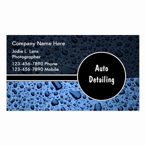 Auto Detailing Business Cards Lovely Auto Detailing Business Cards