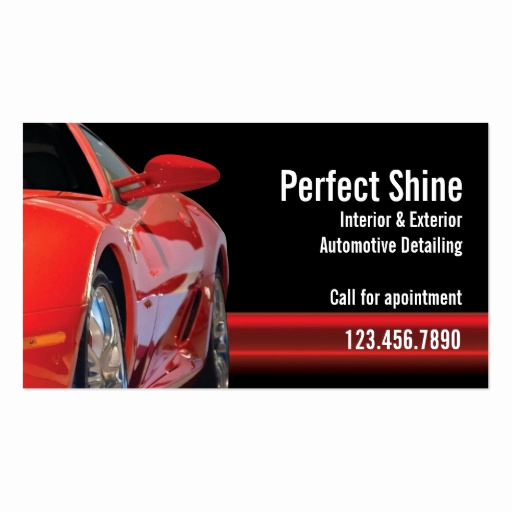 Auto Detailing Business Cards Luxury Car Detailing Business Card