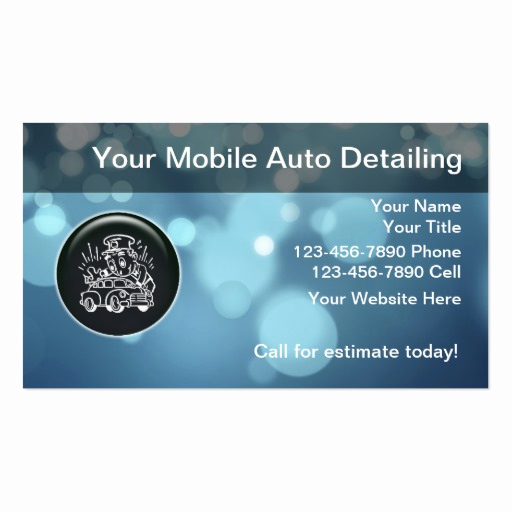 Auto Detailing Business Cards New Auto Detailing Business Cards