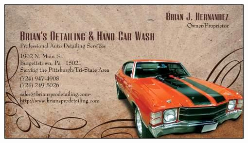 Auto Detailing Business Cards New Car Wash Logo Ideas
