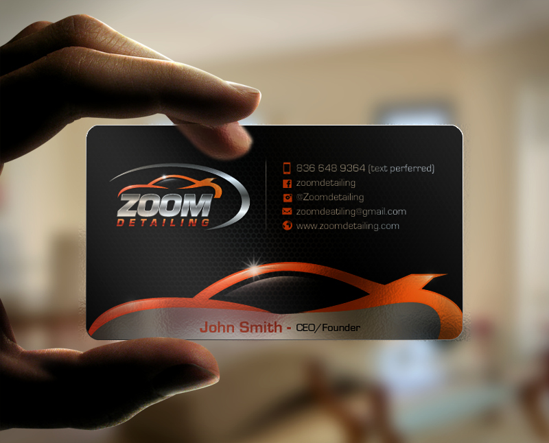 Auto Detailing Business Cards New Professional Serious Business Business Card Design for