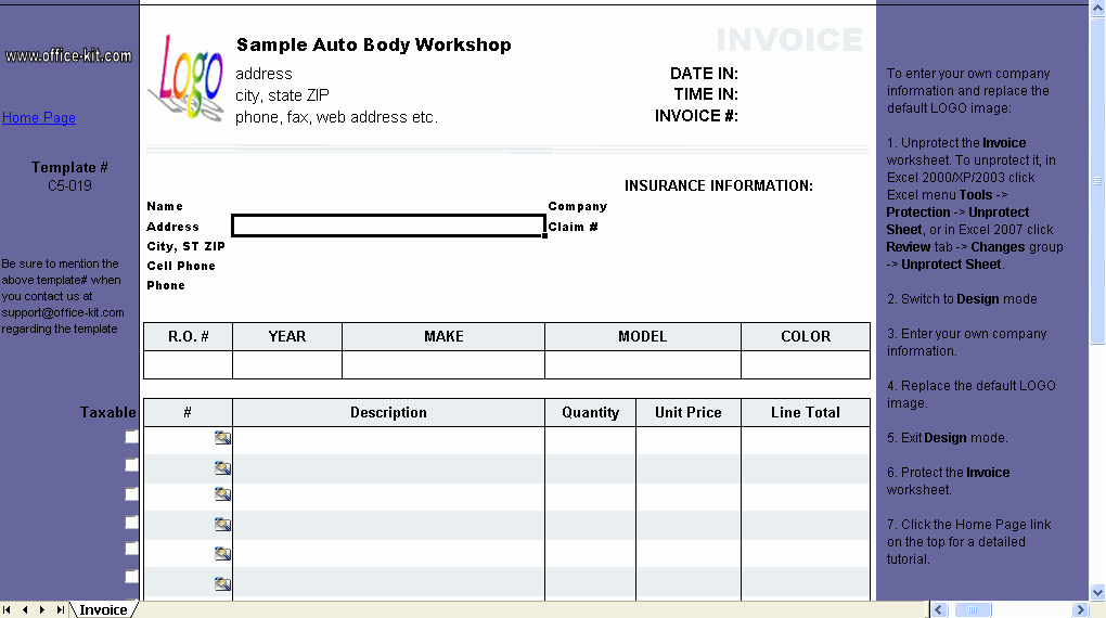 Auto Repair Invoice Template Beautiful Free Program Windows Sam File Repair