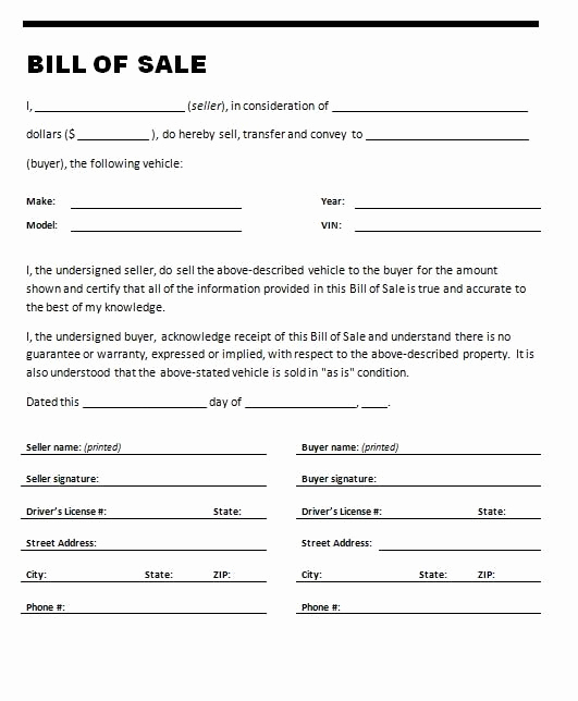 Automotive Bill Of Sale Template Beautiful if You are Selling or Ing A Car You Will Need A Car