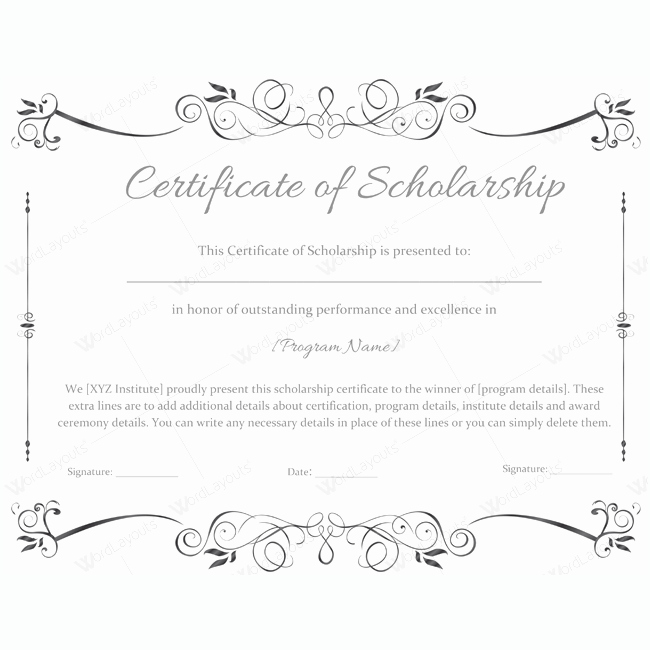 Award Certificate Template Word Awesome 89 Elegant Award Certificates for Business and School events