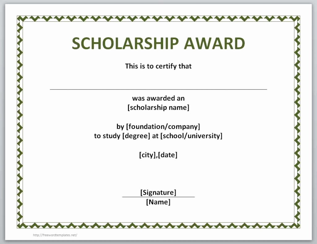 Award Certificate Template Word Beautiful 10 Scholarship Award Certificate Examples Pdf Psd Ai