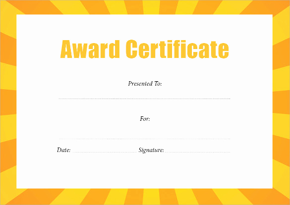 Award Certificate Template Word Elegant 55 Printable Award Certificate Templates Word Psd Ai
