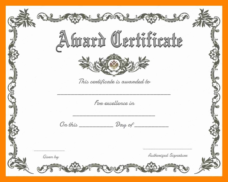 Award Certificate Template Word Luxury Business Award Certificates Templates Free