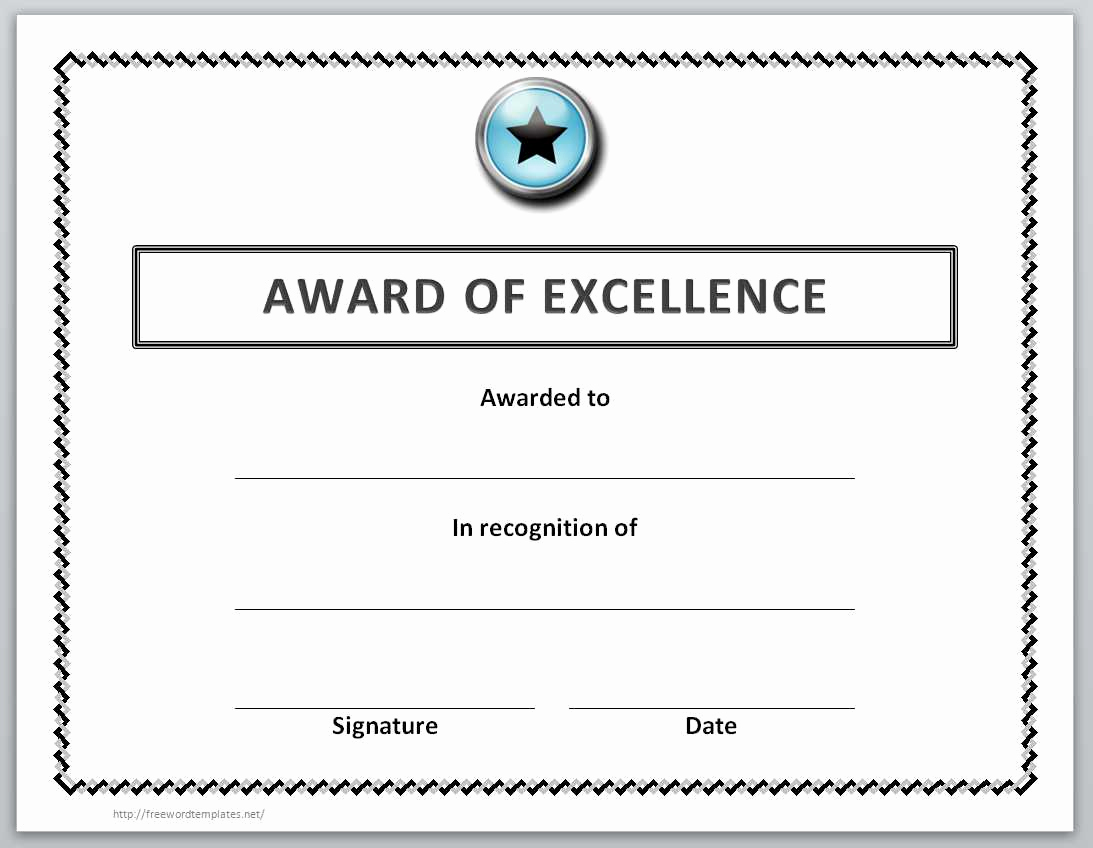 Award Certificate Template Word New 13 Free Certificate Templates for Word