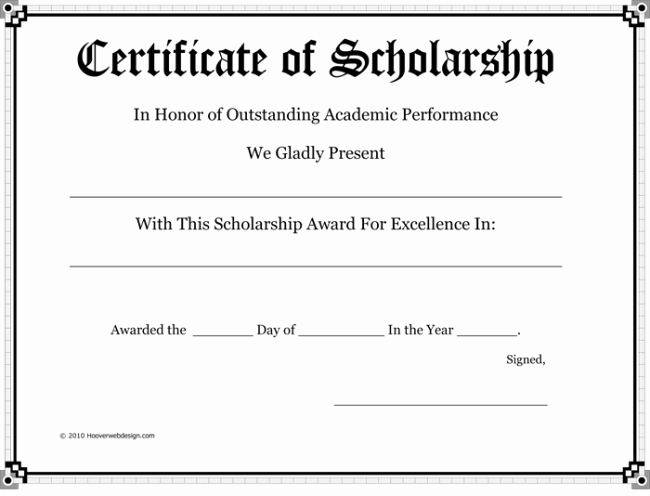 Award Certificate Template Word New 5 Plus Scholarship Award Certificate Examples for Word and Pdf