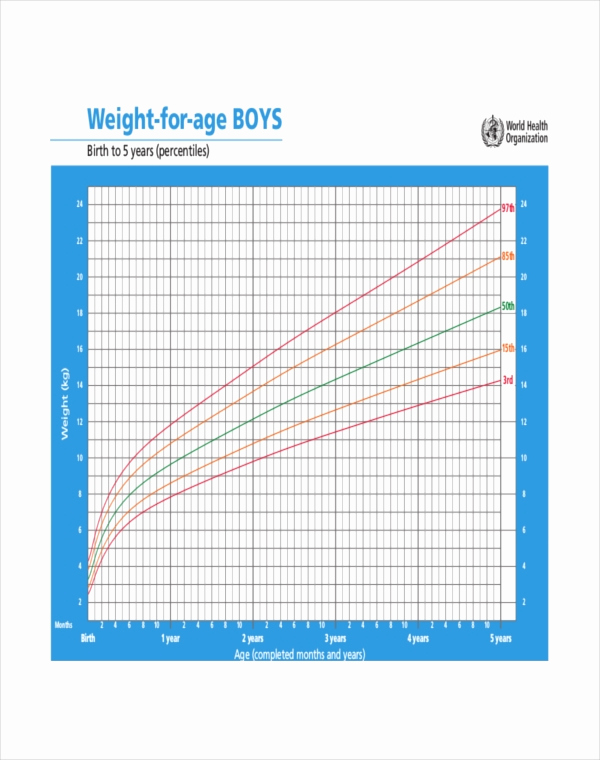 Baby Growth Chart Boys Unique 8 Baby Boy Growth Chart Templates Free Sample Example