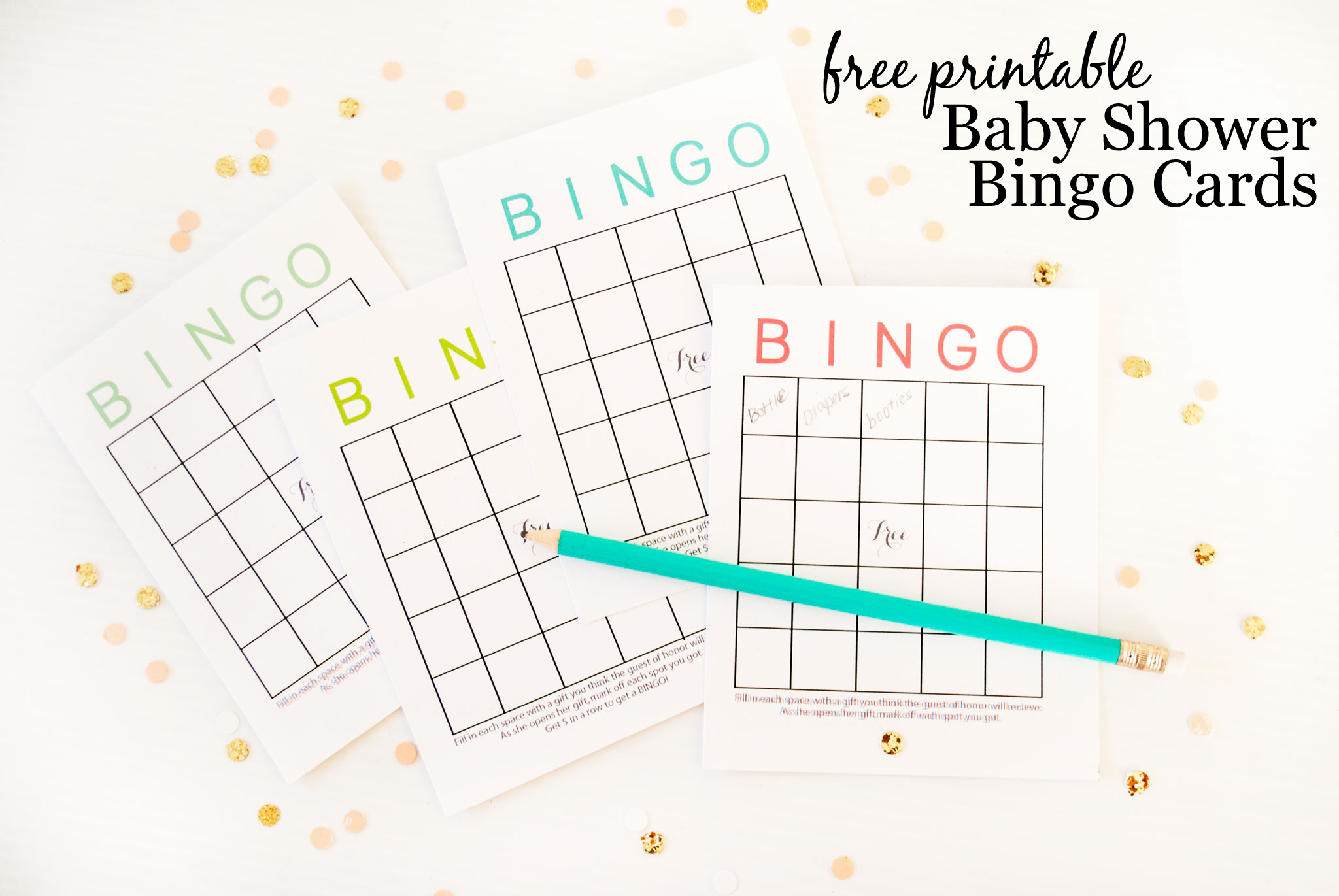 Baby Shower Card Printable Elegant Free Printable Baby Shower Bingo Cards Project Nursery